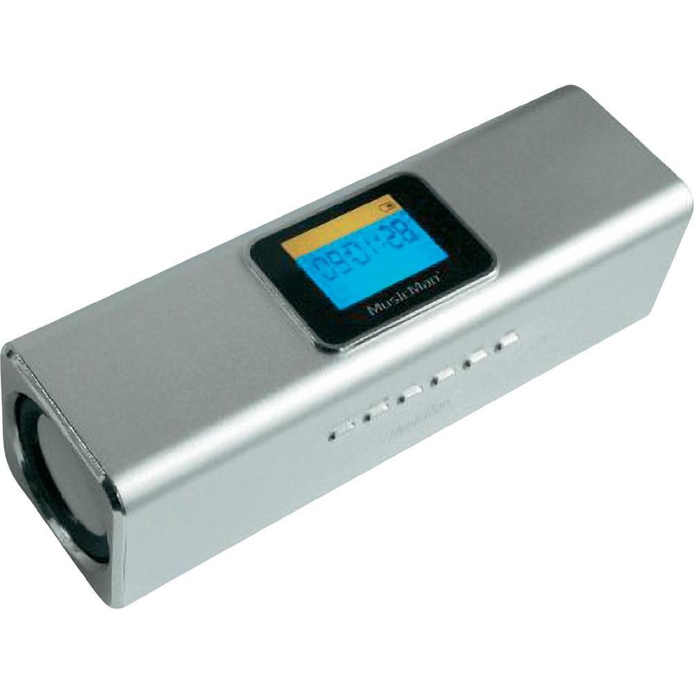 Mobilní sound stanice s displejem technaxx musicman ® ma, stříbrná