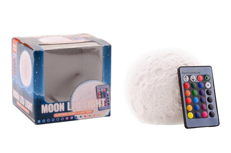 Model měsíce svítící s dálkovým ovládáním