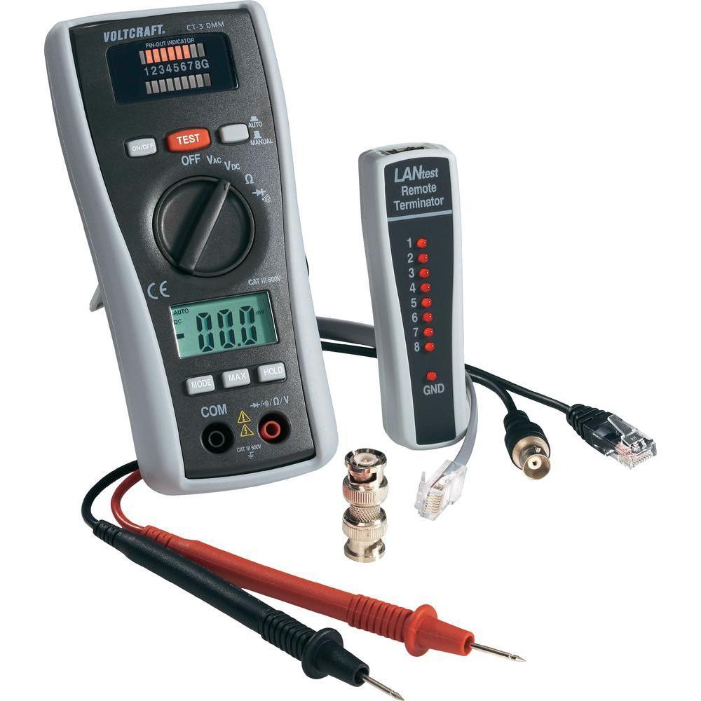 Multimetr se zkoušečkou kabelu ct-3 dmm