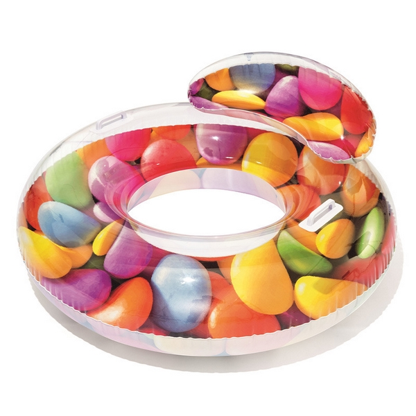 Nafukovací kruh candy s držadly 118x117 cm
