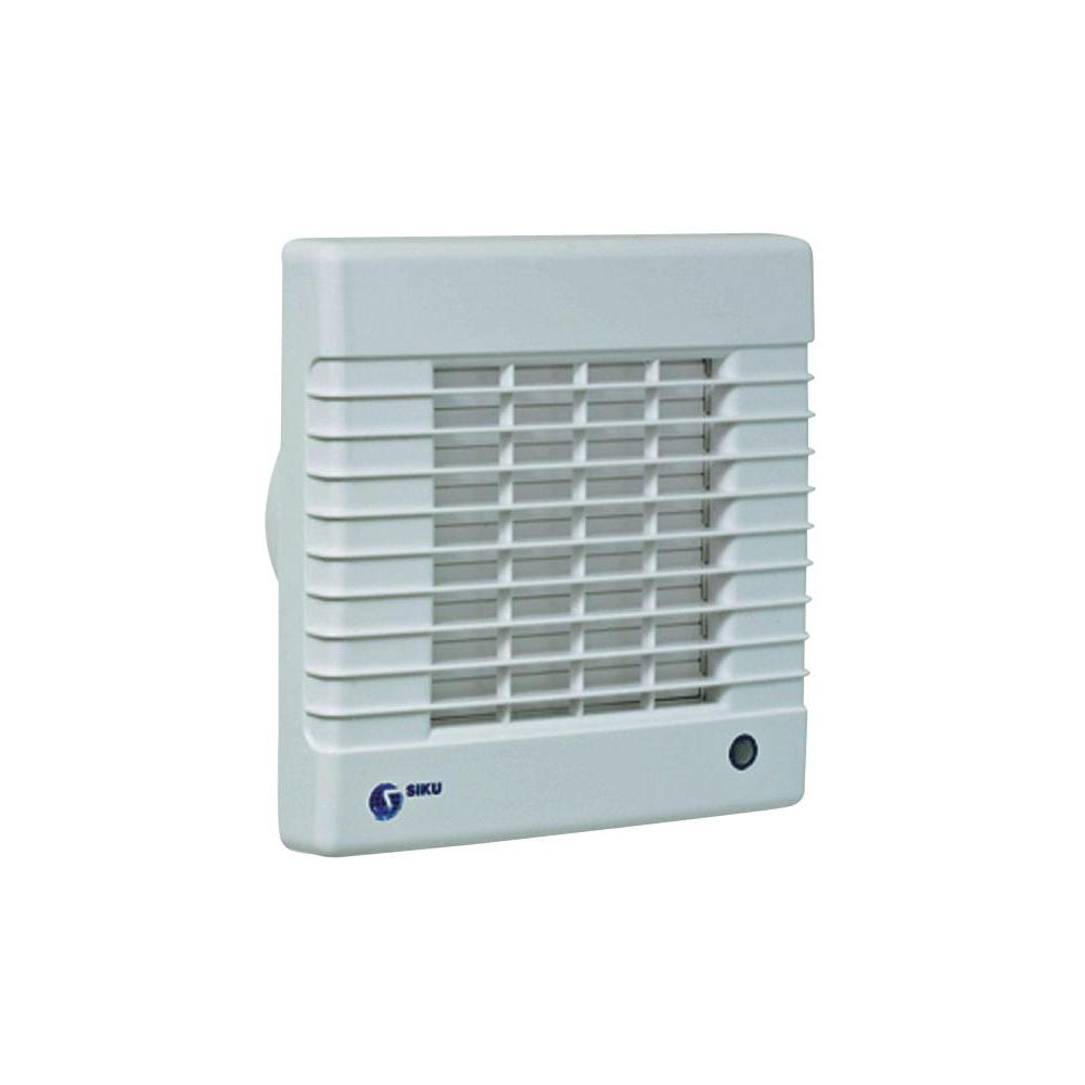 Nástěnný a stropní ventilátor s žaluziemi siku 100, bílý