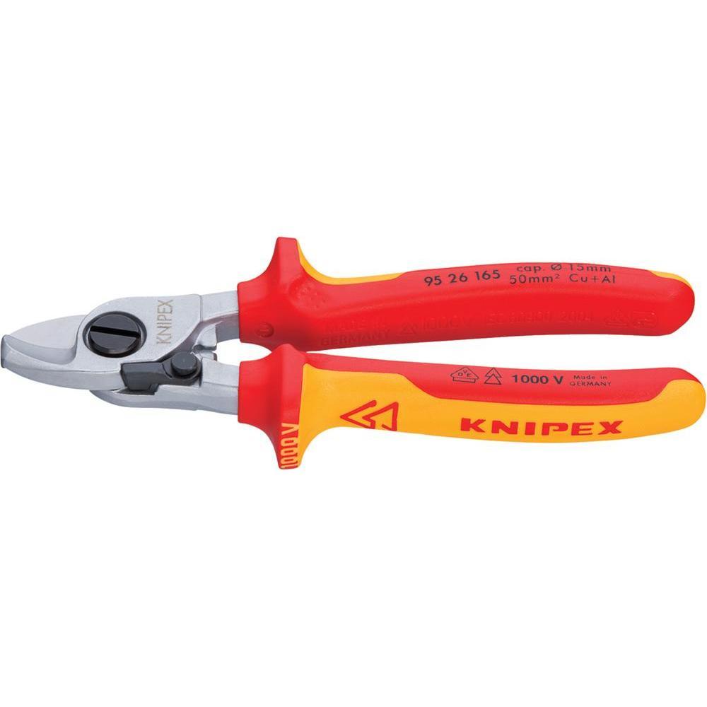 Nůžky na stříhání kabelů s rozevírací pružinou knipex vde 95 26…
