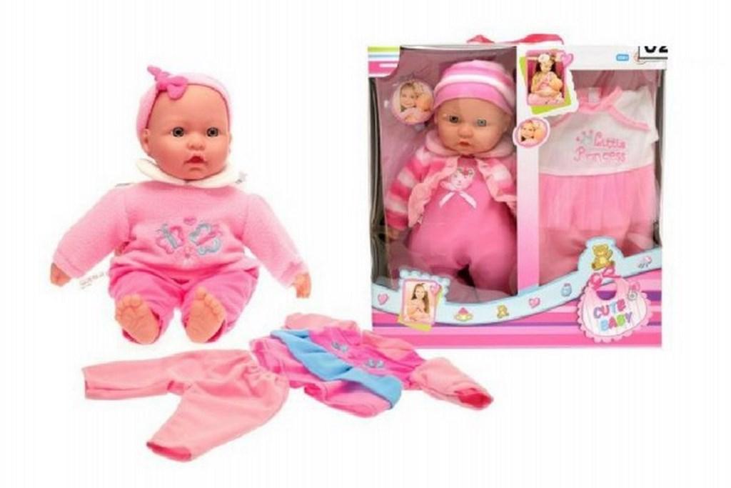 Panenka miminko 36cm měkké tělo s doplňky