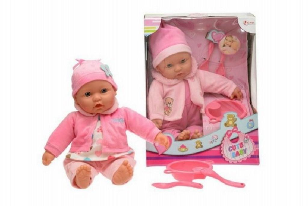 Panenka miminko měkké tělo s doplňky 40cm