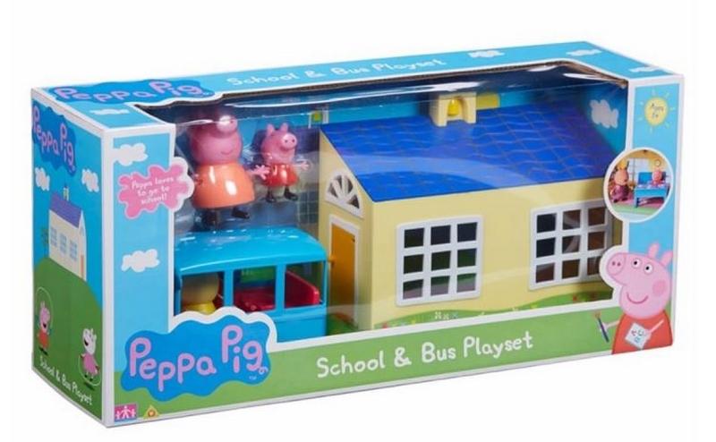 Peppa pig - škola a školní autobus hrací set