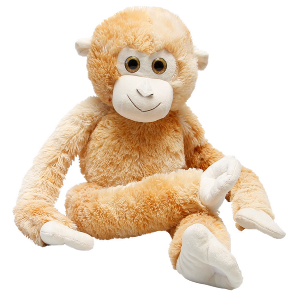Plyšová opička hnědá 80 cm