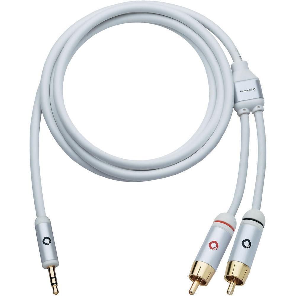 Připojovací kabel oehlbach, jack zástr. 3.5 mm/cinch zástr., bílý,…