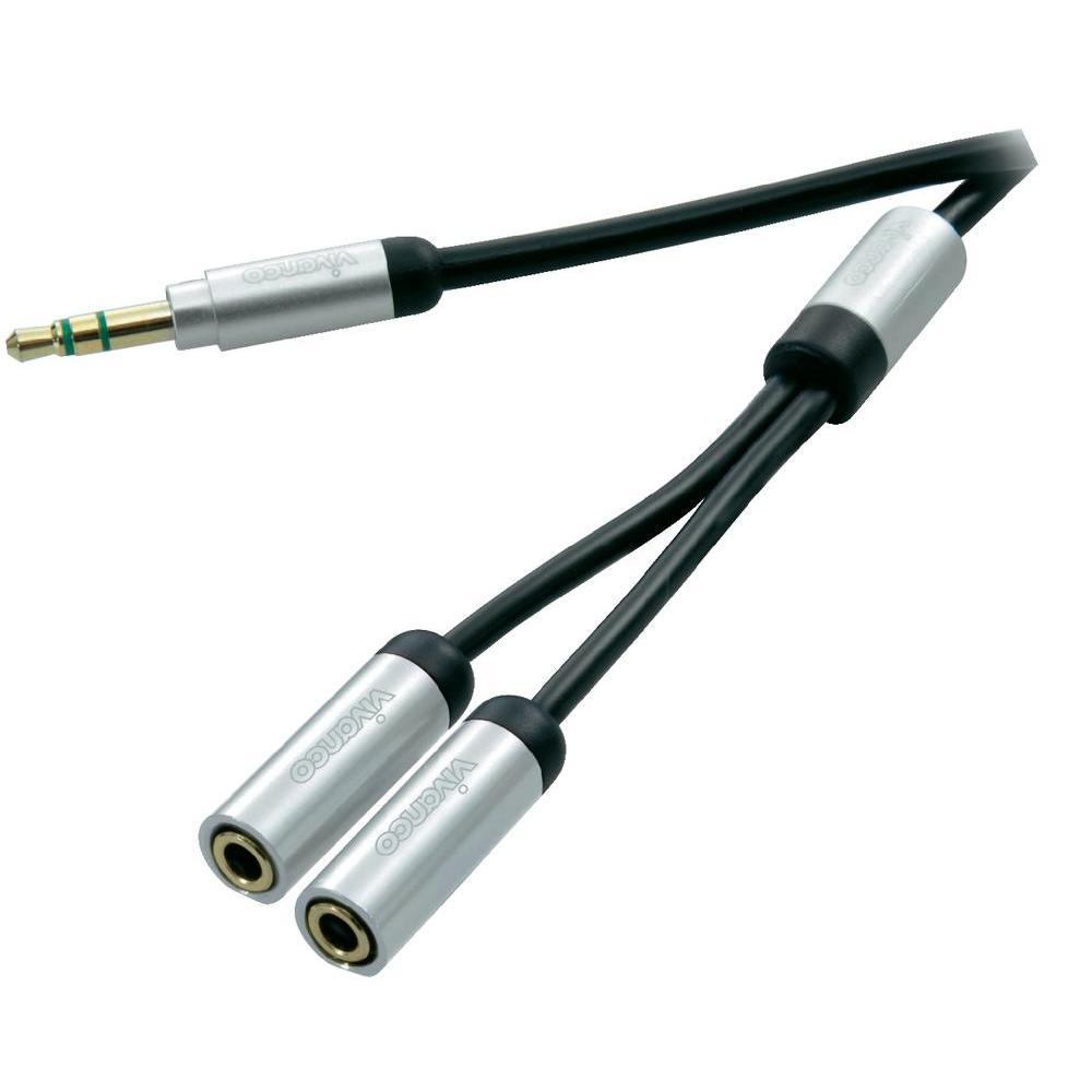 Připojovací kabel vivanco, jack zástr. 3.5 mm/jack zás. 3.5 mm,…