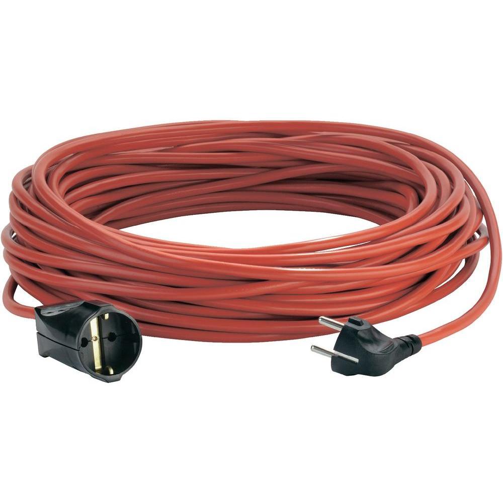 Prodlužovací kabel 25m červený bílá ta