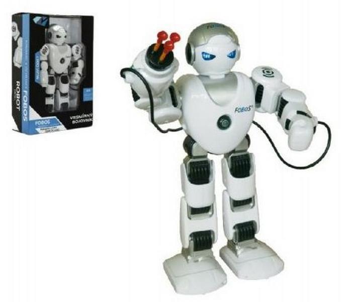 Robot rc fobos bojovník chodící plast 40cm na baterie a usb…