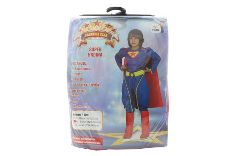 Šaty - super hrdina, 120 - 130 cm