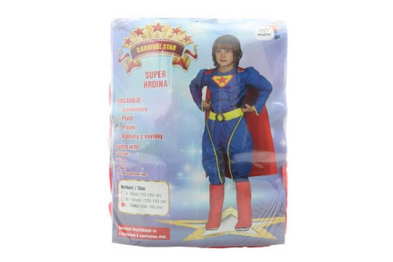 Šaty - super hrdina, 130 - 140 cm