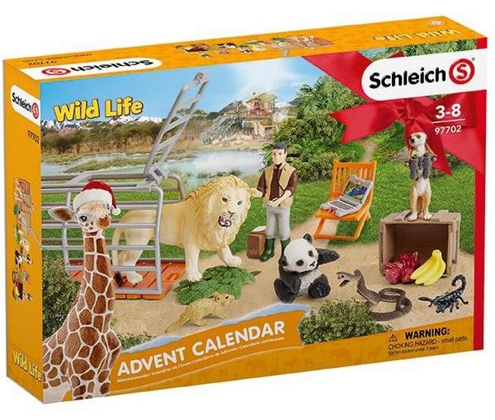 Schleich 97702 adventní kalendář divoká zvířata 2018