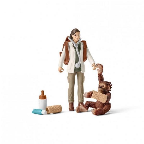 Schleich veterinář s opicí