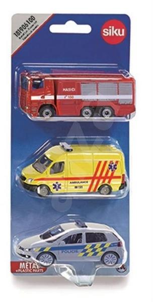 Siku česká verze - set mix policie, hasiči, ambulance