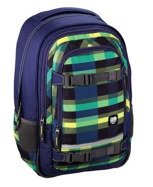 Školní batoh all out selby backpack, summer check green