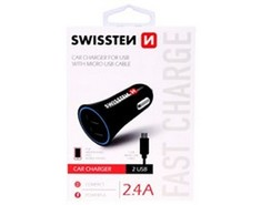 SWISSTEN CL adaptér 2,4A power 2x USB + kabel ?USB