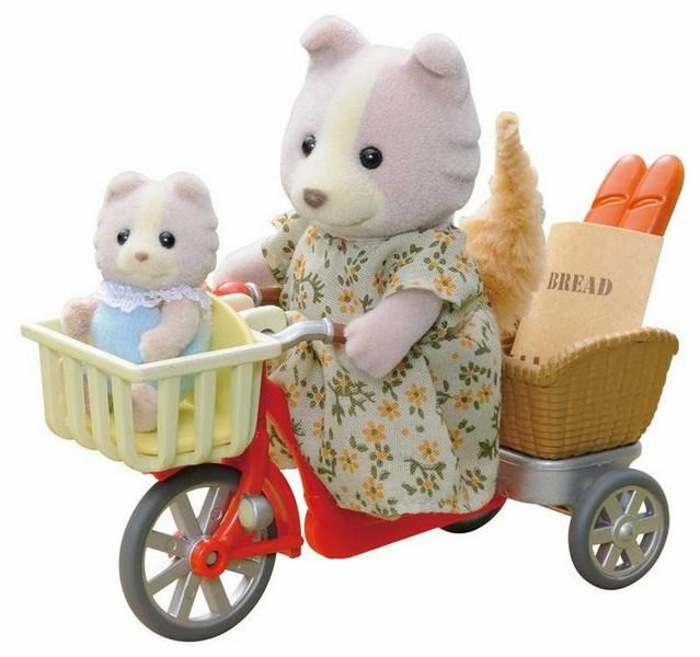 Sylvanian families - psí rodinka na kole