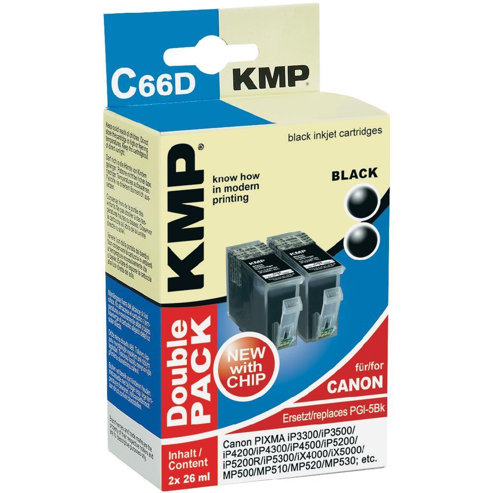 Toner inject kmp c66d = 2x canon pgi-5bk