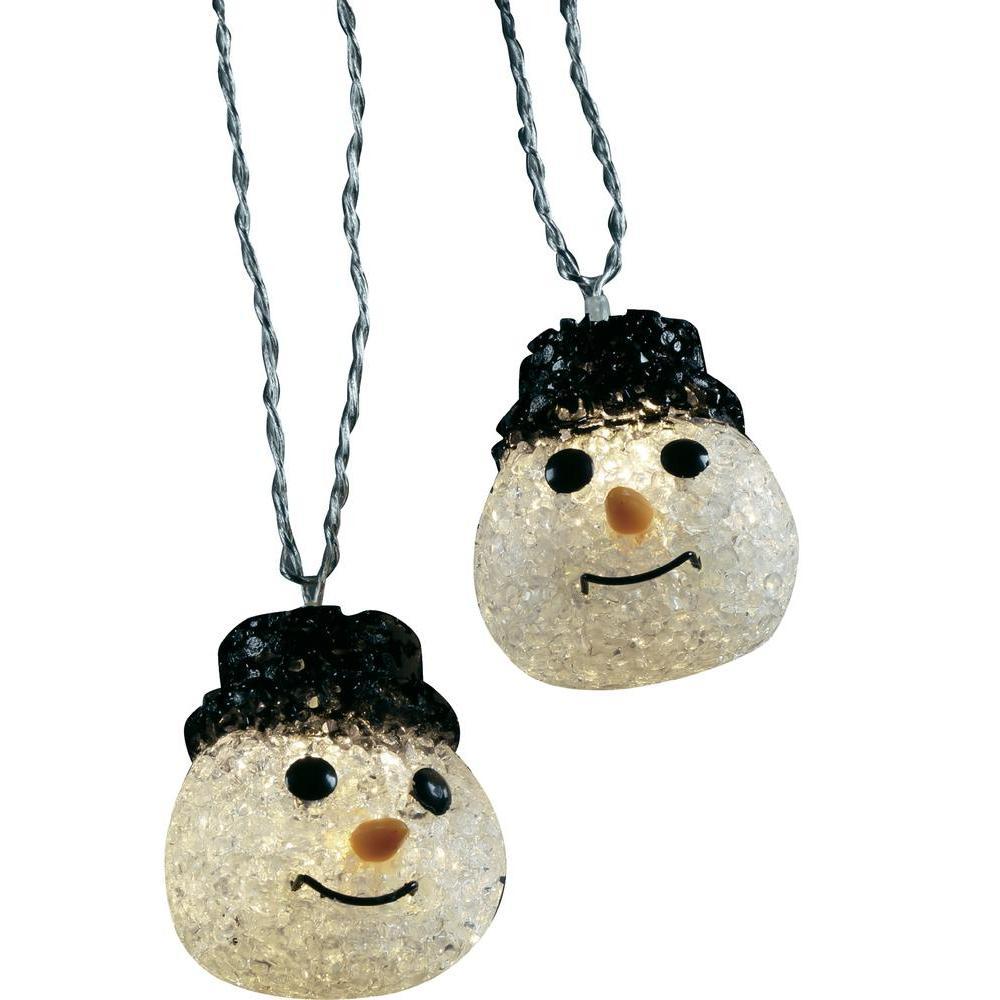 Venkovní vánoční řetěz polarlite, 10 led, 12,7 m, sněhulák