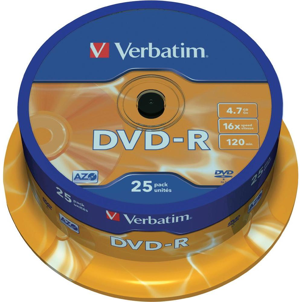 Verbatim dvd-r 4,7gb 16x 25 ks cake box