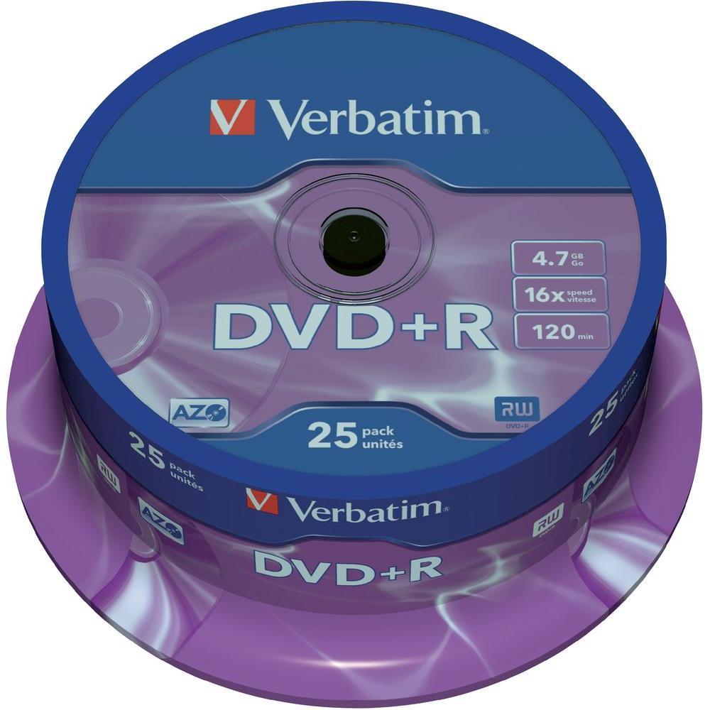 Verbatim dvd+r 4,7gb 16x 25 ks cake box