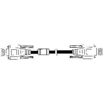 Vga propojovací kabel, 15pin., 75 ohmů, ferity, 30m, černý