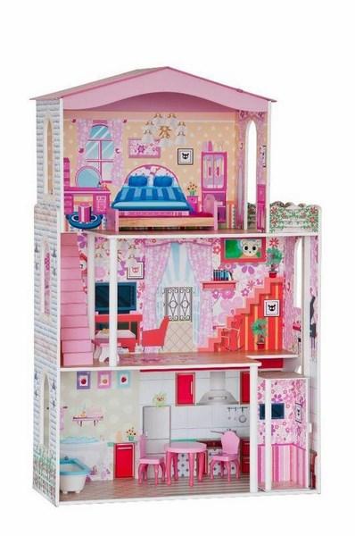 Woody domeček - velký, 7 ks nábytku ( pro panenky typu barbie)