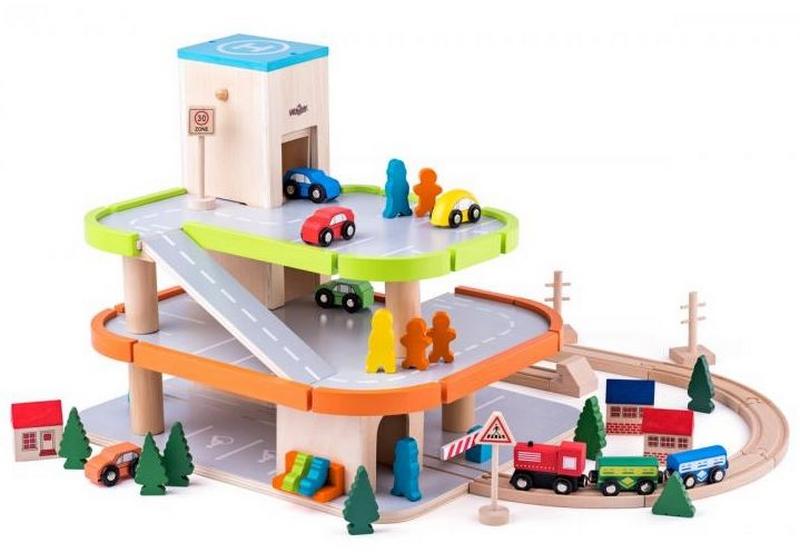 Woody garáž třípodlažní s příslušenstvím (bez zvuku)
