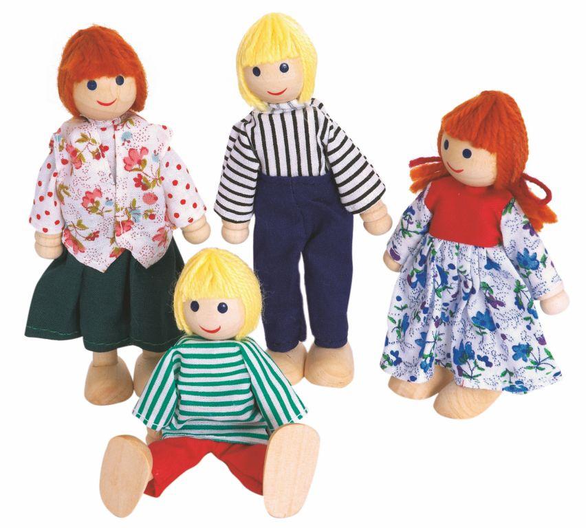 Woody panenky do domečku, 4ks