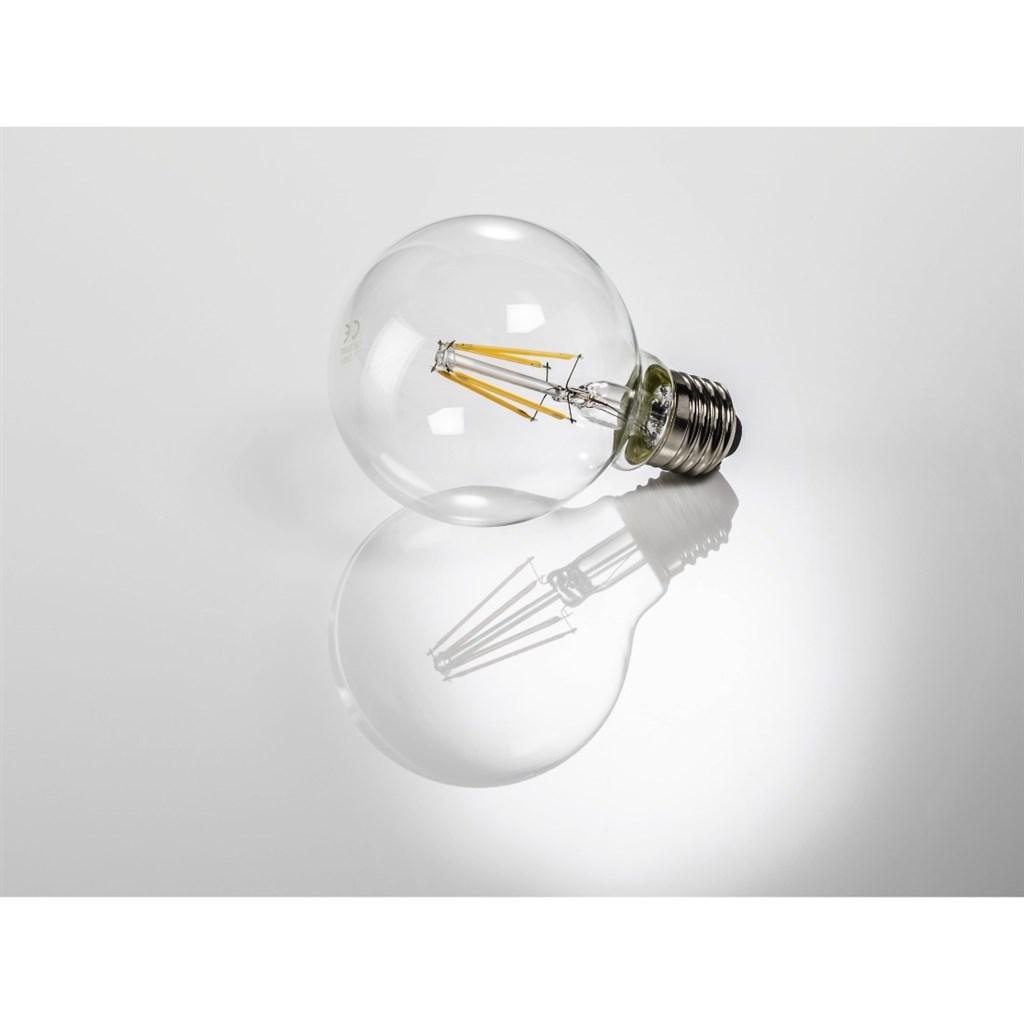 Xavax led filament žárovka, e27, 4 w (=40 w), tvar koule, teplá…