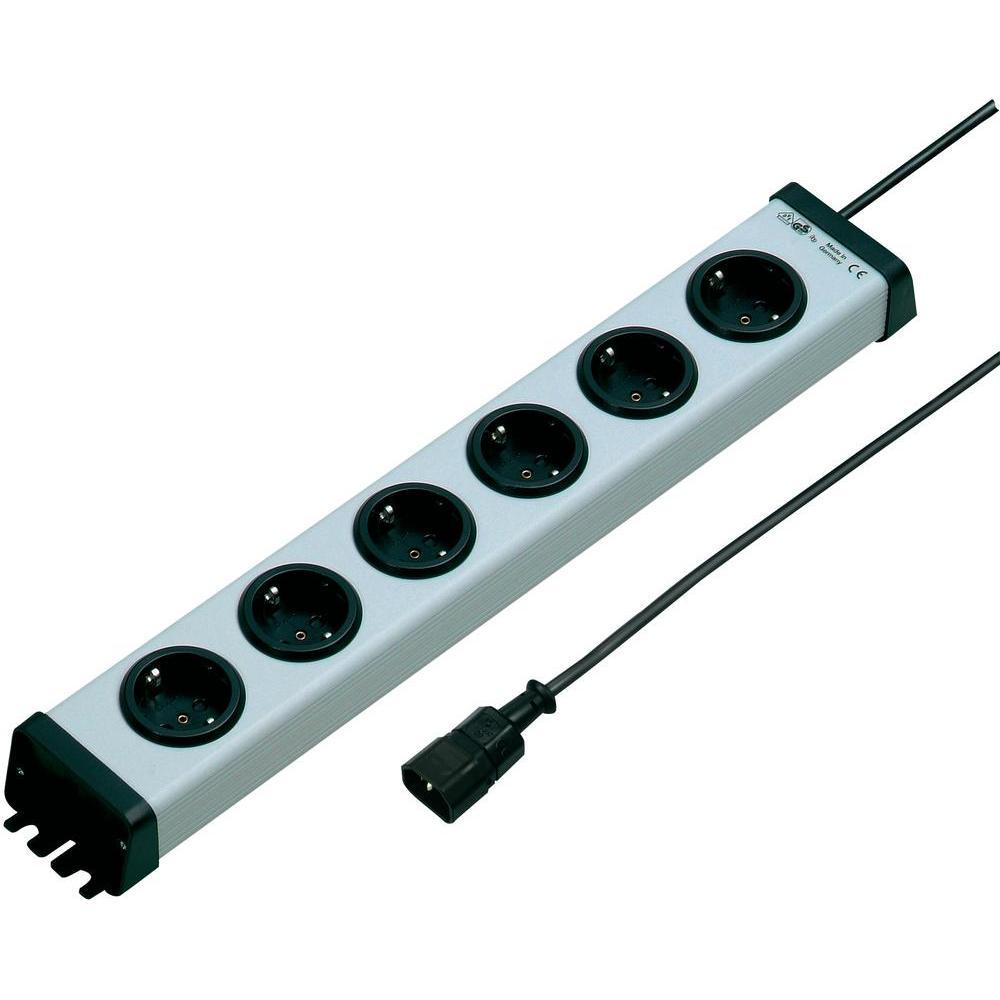 Zásuvková lišta ehmann vario linea, 6 zásuvky, 10 a
